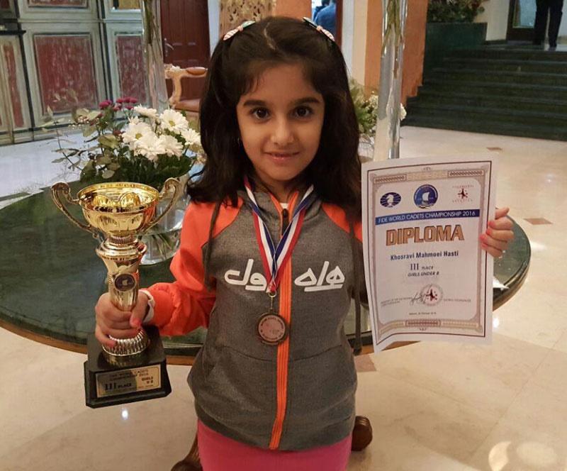 مدال برنز رقابتهای جهانی شطرنج برای هستی خسروی/ کسب یک نقره و یک برنز دیگر در رقابتهای حل مسئله