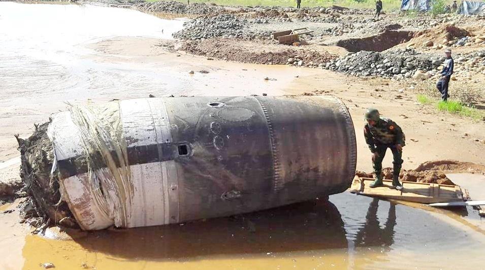 سقوط جسمی ناشناخته در میانمار