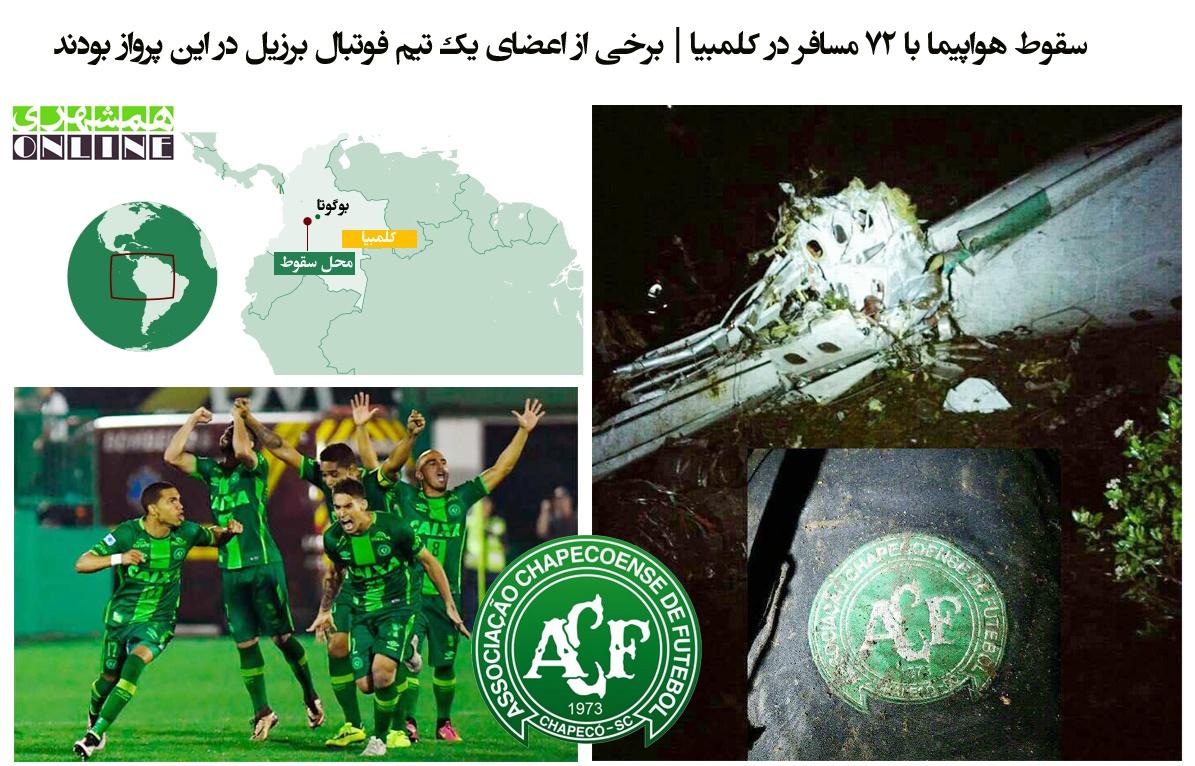 چرا هواپیمای حامل فوتبالیستهای شاپه کوئنسه سقوط کرد؟