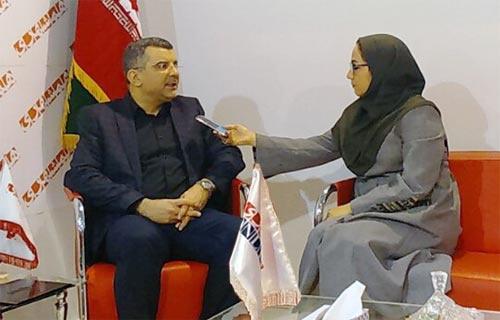 قائم مقام وزیر بهداشت در غرفه همشهری