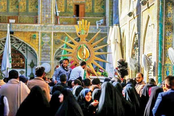 بازگشت تاج طلایی گنبد حرم حضرت علی ع