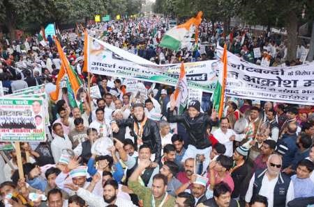 تظاهرات مردم هند علیه برنامه های اقتصادی دولت