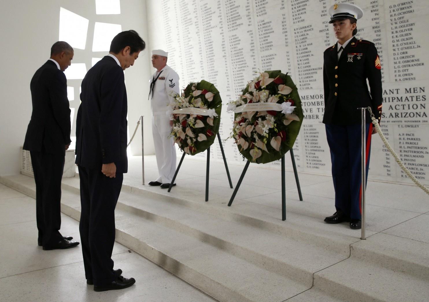 دیدار تاریخی نخست وزیر ژاپن از پرل هاربر آمریکا