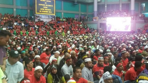 تجمع در مالزی در محکومیت کشتار مسلمانان میانمار