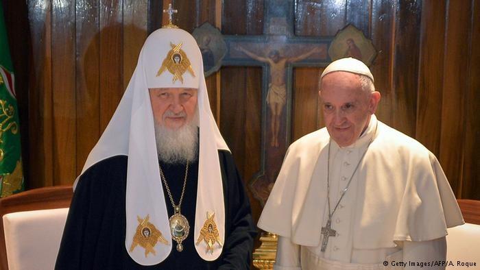 دیدار تاریخی سران کلیساهای کاتولیک و ارتدوکس پس از هزار سال