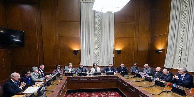 دیدار فرستاده سازمان ملل با نمایندگان دولت سوریه در ژنو