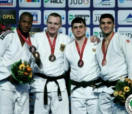مدال برنز مسابقات جودوی آلمان بر گردن جواد محجوب