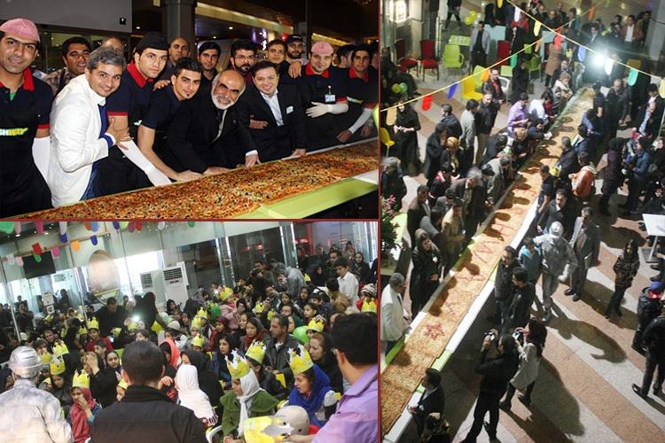 کودکان معلول و بیسرپرست، رکورد طولانیترین پیتزای ایران را شکستند!