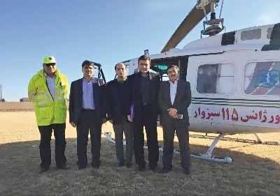 افتتاح مجدد اورژانس هوایی محور تهران-مشهد