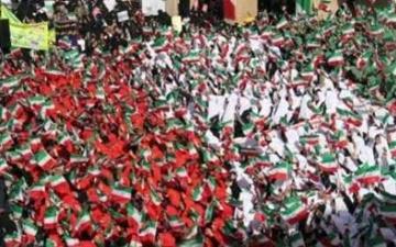 حضور پرشور ورزشکاران در راهپیمایی ۲۲ بهمن