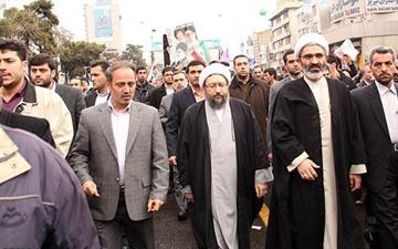 رئیس قوه قضائیه به جمع راهپیمایان ۲۲ بهمن پیوست