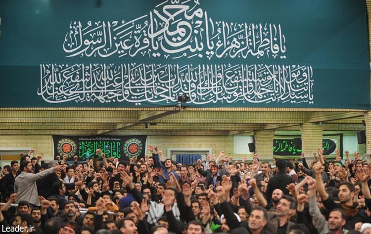 دومین شب مراسم عزاداری حضرت فاطمه زهرا (س) با حضور رهبر معظم انقلاب