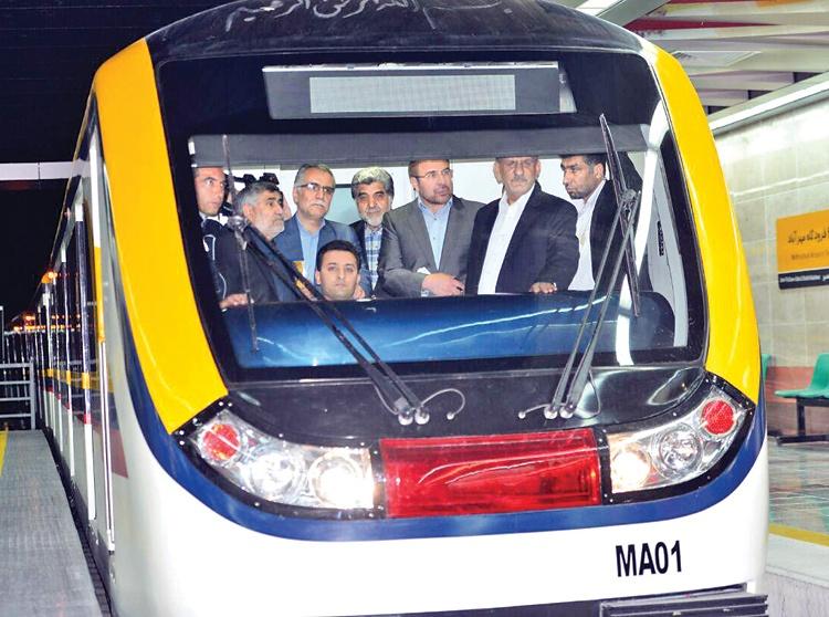 متروی پایتخت به ایستگاه ۱۰۰ رسید