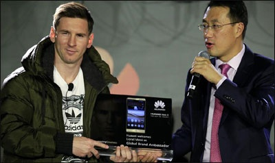 مسی سفیر جهانی برند شرکت هواوی چین شد