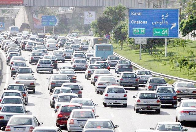 وضعیت ترافیک جادهای
