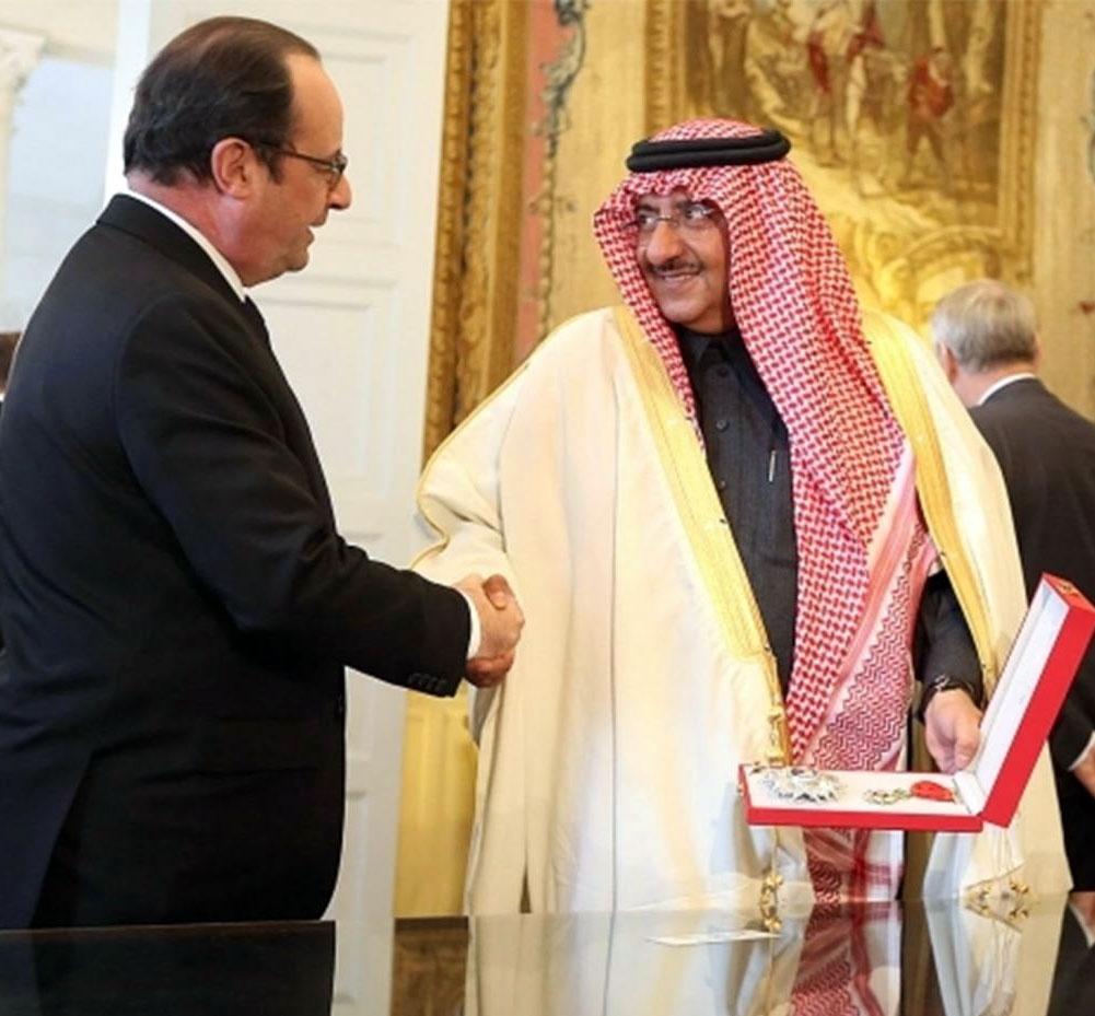 اعتراضهای شدید به اعطای بالاترین نشان افتخار فرانسه به ولیعهد سعودی