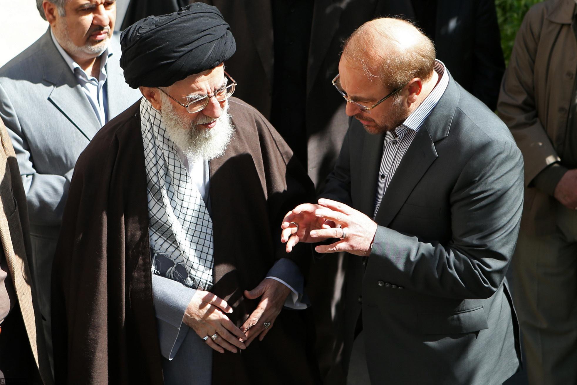 رهبر معظم انقلاب اسلامی یک اصله نهال غرس کردند