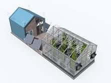 تولید مواد غذایی آلی و انرژی پاک با گلخانه شناور
