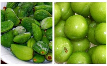 نکات مهم برای مصرف چغاله بادام  و گوجه سبز