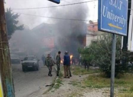 ترور یک مسئول جنبش فتح با انفجار خودرو بمب گذاری شده در صیدا