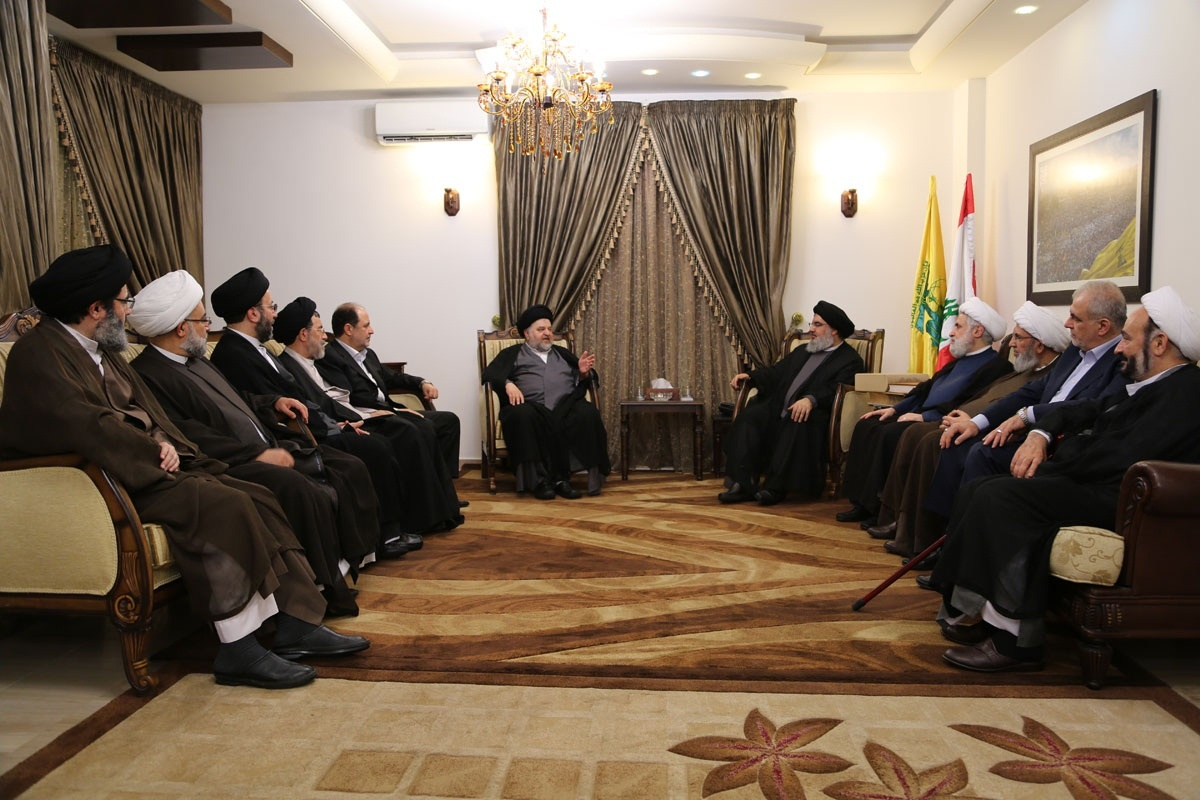 دیدار دبیرکل حزب الله با نماینده آیت الله سیستانی