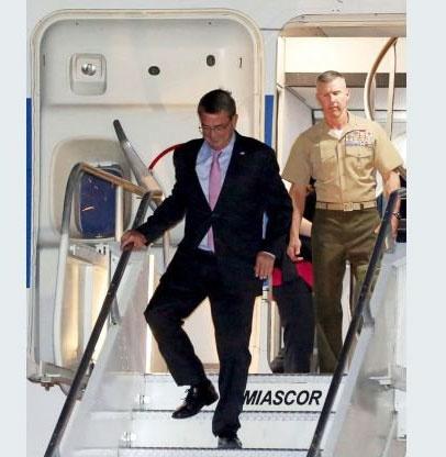 وزیر دفاع آمریکا وارد بغداد شد