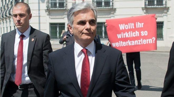 بحران پناهجویی صدراعظم اتریش را مجبور به استعفا کرد