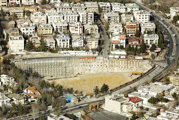 ۱۰ درصد از گودهای ساختمانی تهران در مرحله پر خطر هستند