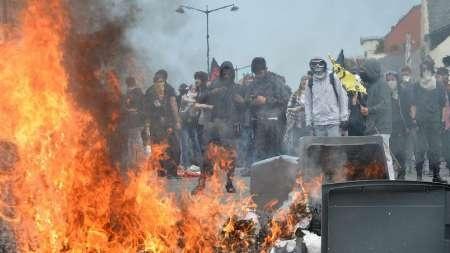 آشوب در شهر رِن فرانسه | ممنوعیت برگزاری تظاهرات علیه خشونت پلیس