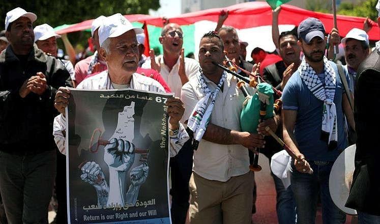 فراخوان فلسطینیها برای تظاهرات گسترده در شصت و هشتمین سالروز نکبت