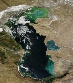 کاهش ۱.۲ متری تراز آب خزر در شهریور ۹۴