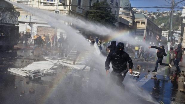 تظاهرات گسترده ضد دولتی در شیلی