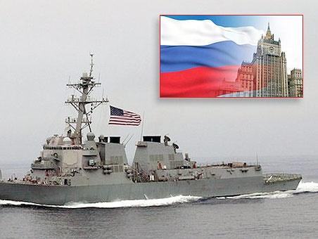 واکنش روسیه به ورود ناو آمریکایی به دریای سیاه
