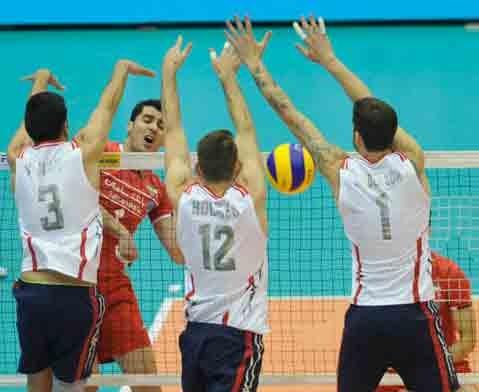 لیگ جهانی والیبال گروه B | ششمین جدال ایران با آمریکا