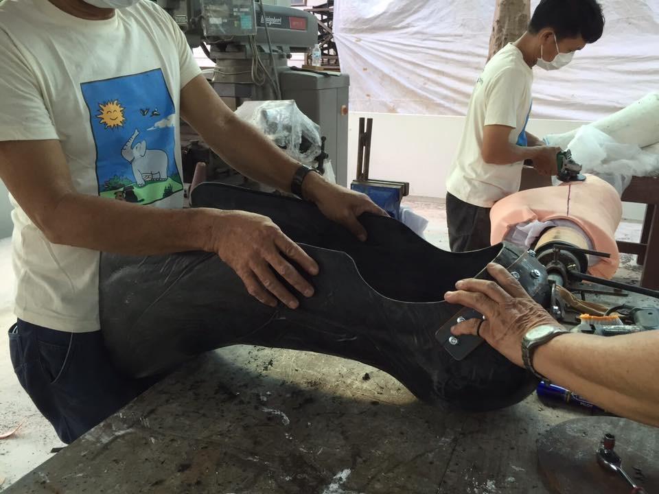 اولین پای مصنوعی جهان برای یک فیل