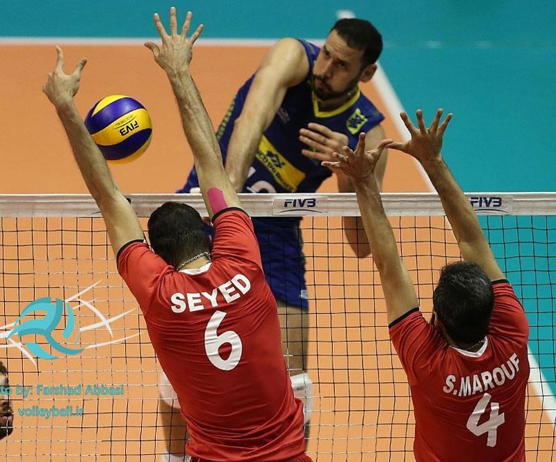 لیگ جهانی والیبال؛ شکست ایران مقابل برزیل