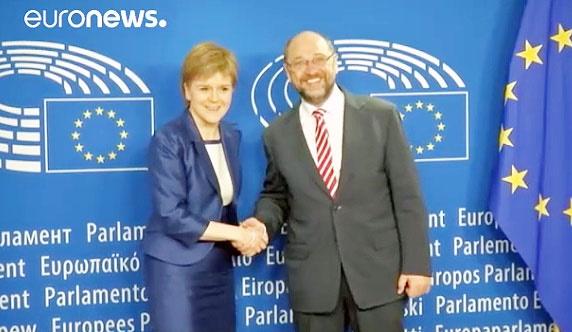 دیدار وزیر اول اسکاتلند با رهبران اتحادیه اروپا برای ماندن در این اتحادیه