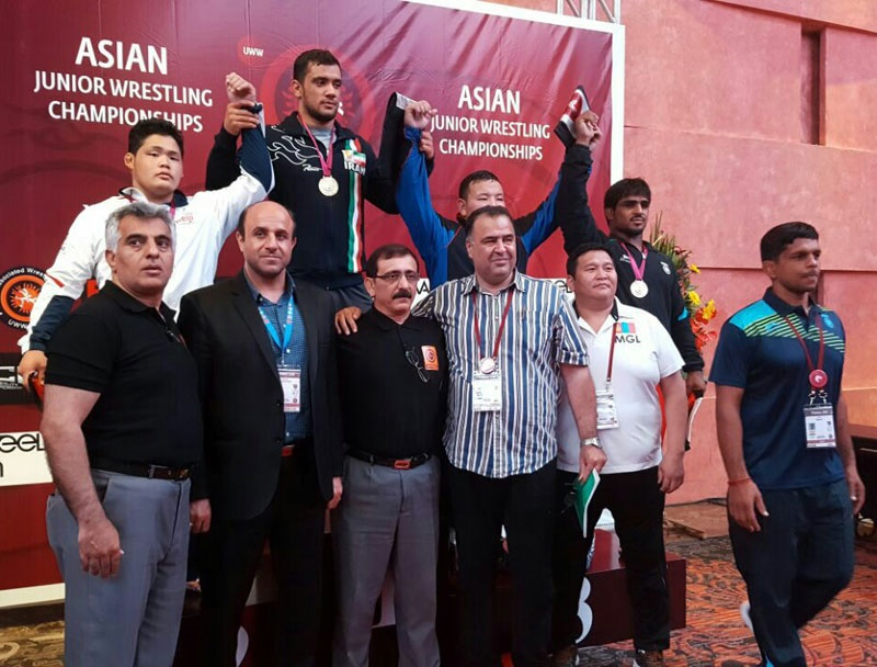 کشتی آزاد جوانان آسیا | ایران نایب قهرمان شد
