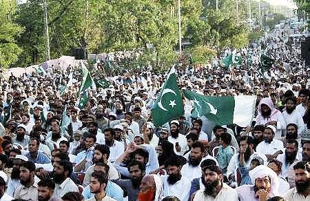 تظاهرات ضدآمریکایی در پایتخت پاکستان