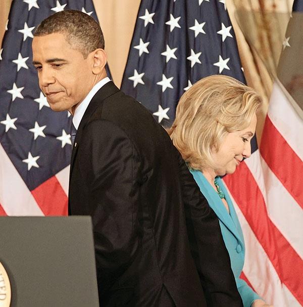 اوباما کنار کلینتون، علیه ترامپ