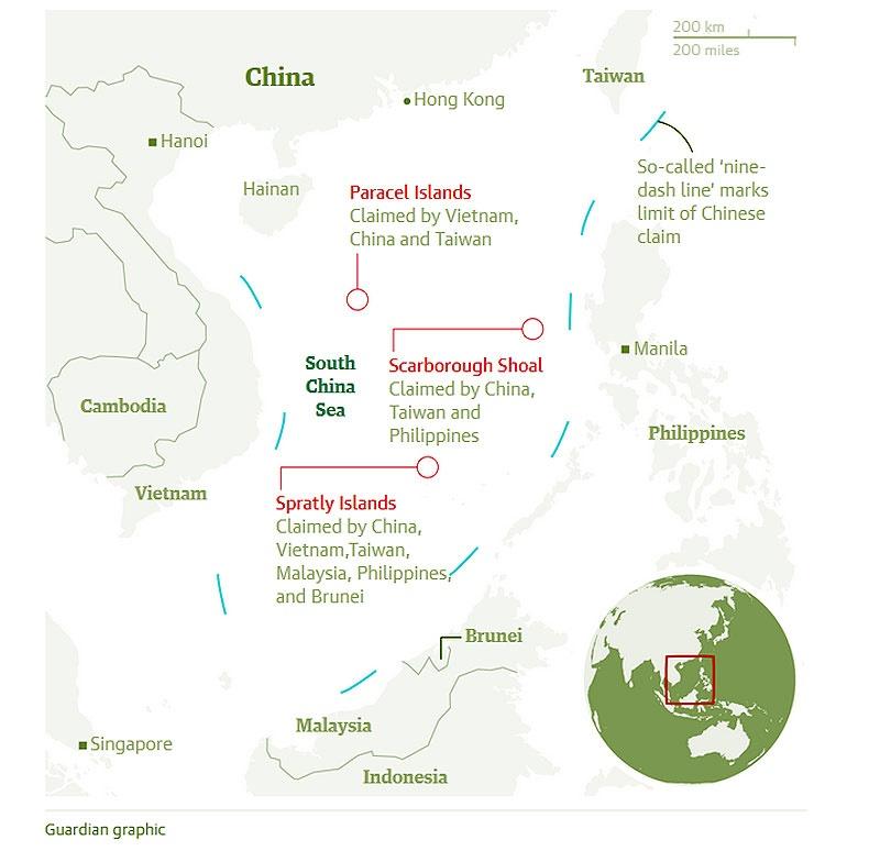 چین: رای دادگاه لاهه درباره دریای جنوبی باطل است