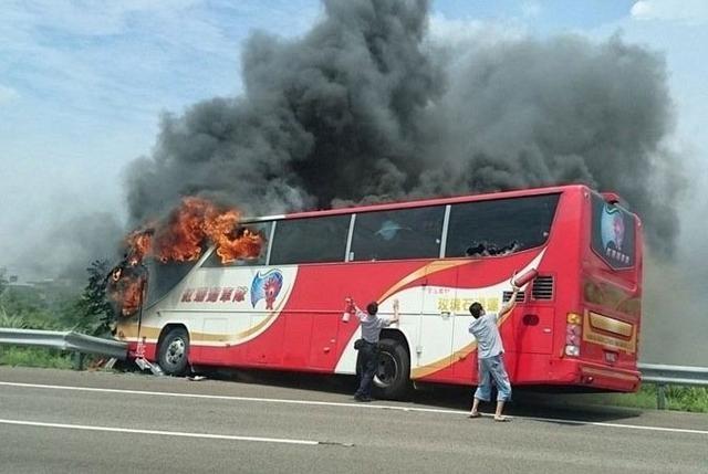 ۲۶ کشته در حادثه اتوبوس گردشگران چینی در تایوان