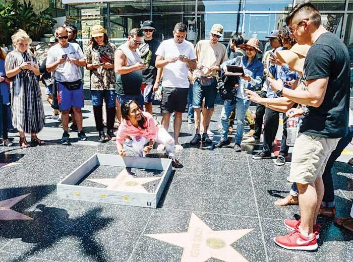 محصور کردن نام ترامپ در هالیوود