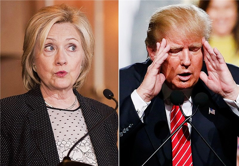آمریکا؛ محبوبیت ترامپ از کلینتون پیشی گرفت