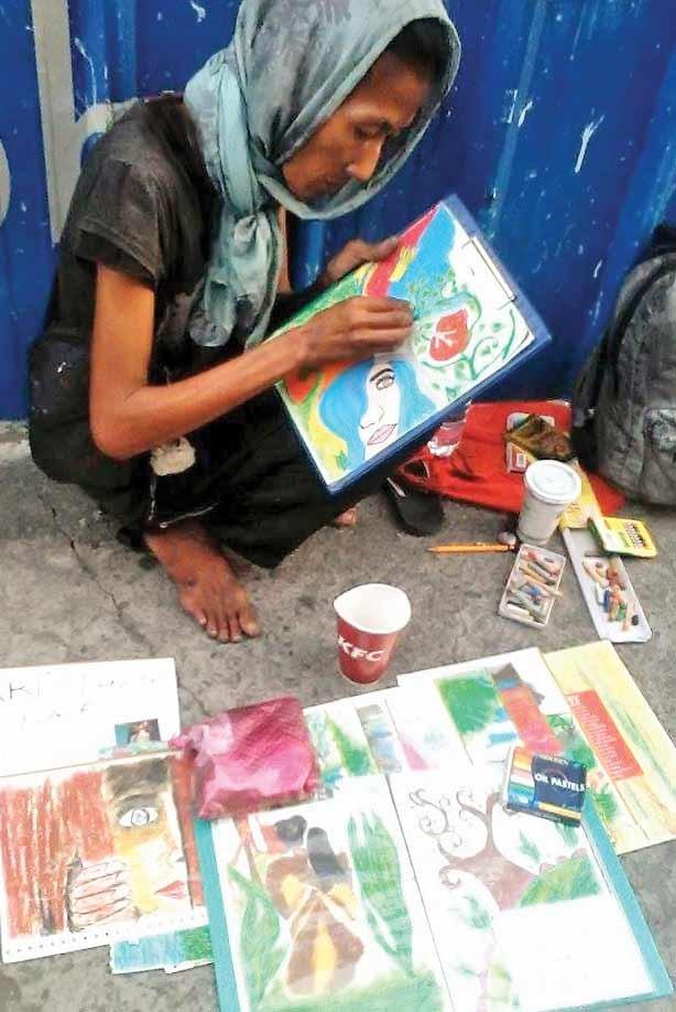 نمایشگاه نقاشی یک بیخانمان