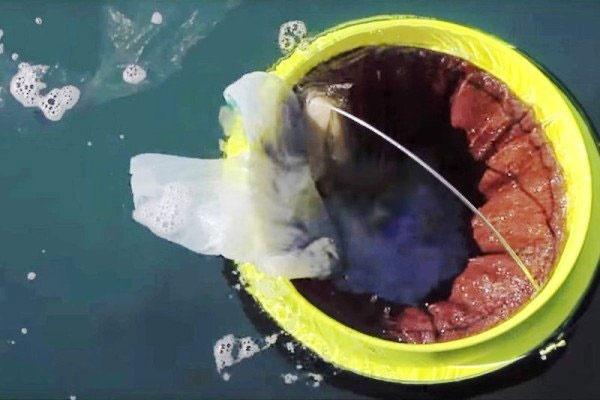 سطل زباله شناور چاره نجات اقیانوسهای جهان