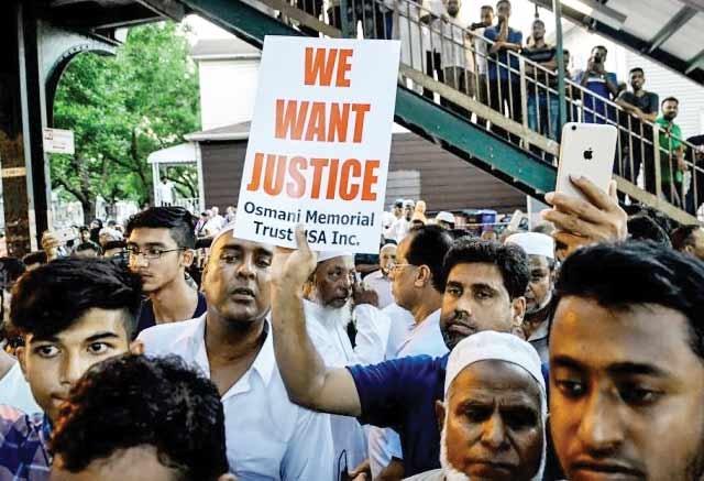 مسلمانان نیویورک در پی ترور امام جماعت مسجد جامع الفرقان خواستار اجرای عدالت شدند.