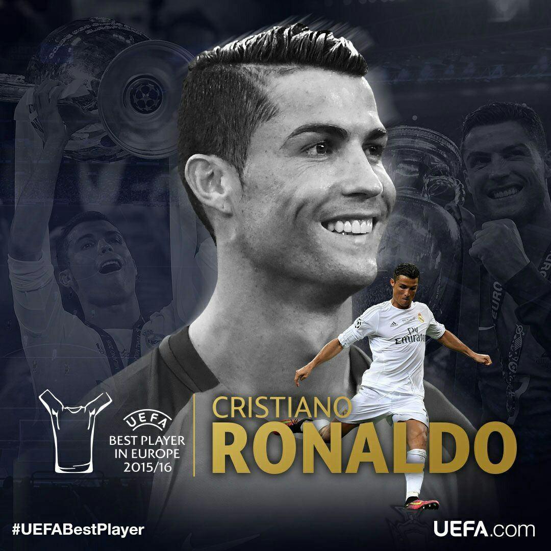 کریستیانو رونالدو، برنده جایزه بهترین بازیکن سال اروپا