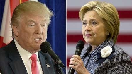 تازه ترین نظرسنجی درباره نامزدهای انتخابات آمریکا | کلینتون ۸ درصد از ترامپ پیش افتاد