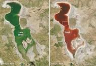 اعلام دلیل قرمزشدن آب دریاچه ارومیه توسط سازمان فضایی ناسا